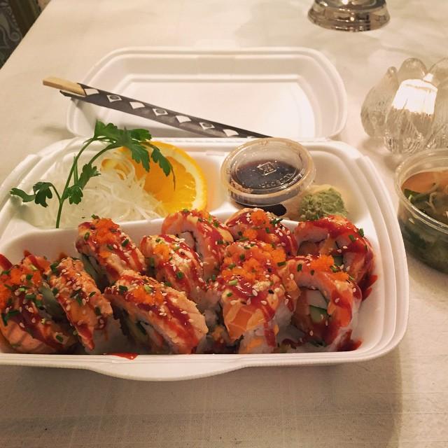 Lite sushi en lördag som denna  #sushi #lördag #saturday #sweet #folkungaspecial