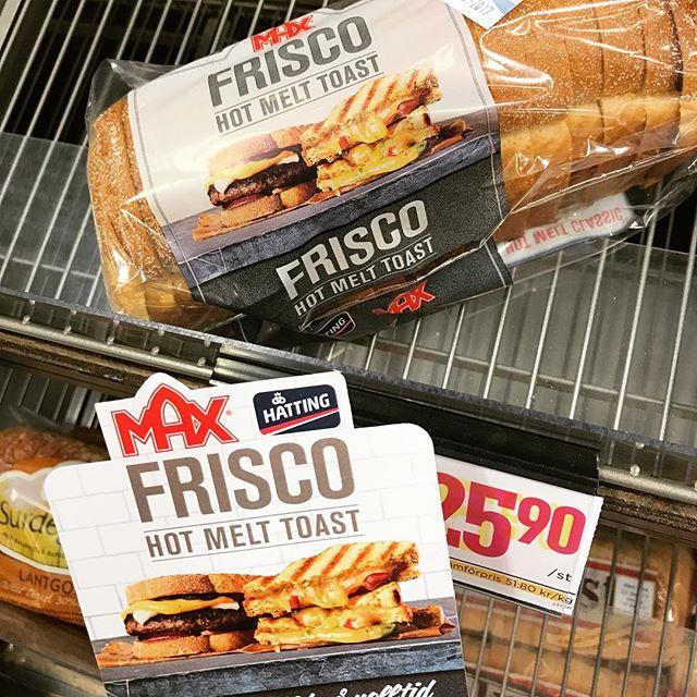 Frisco Hot Melt Toast verkar vara populärt. Jag fick tag på den sista påsen dom hade här idag #max #maxburger #maxburgers #maxhamburgare #friscohotmelt #maxfriscohotmelttoast #friscohotmelttoast #toast